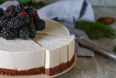 Raw vegan gluten-free vanilla mocha cheesecake