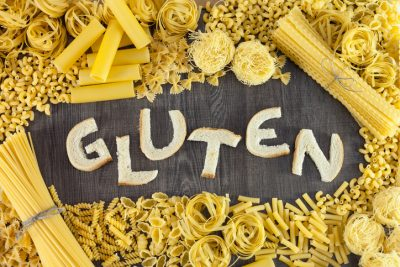 Pasta and bread contains gluten